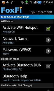 FoxFi (WiFi Tether w/o Root) image