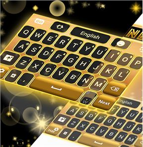 Neon Gold GO Keyboard image