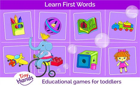 First words games for kids image