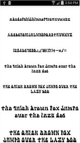 Fonts for FlipFont Tattoo image