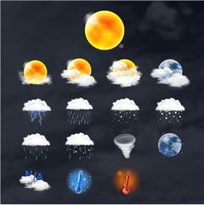 Realistic Weather Iconset HD image