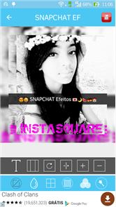 Square Size SnapChat Desfoques image