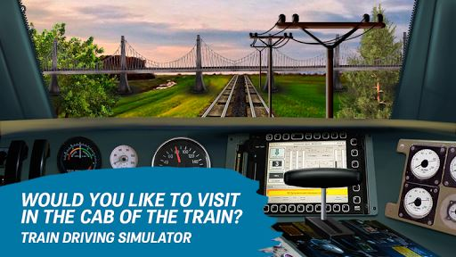 Train driving simulator image
