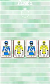 Hero Rangers Memory Game image