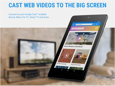 Web Video Cast | Browser to TV image