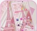 Pink Theme Eiffel Tower Love